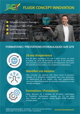 téléchargez notre catalogue de formation hydraulique FCI