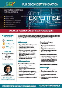 gestion litiges hydrauliques - FCI formations